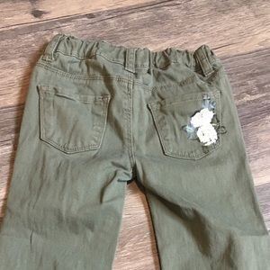 Toughskin green cotton girls pants